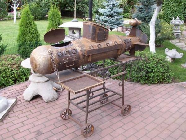 Подводная лодка-мангал,коптильня (Фото 16)