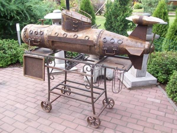 Подводная лодка-мангал,коптильня (Фото 13)