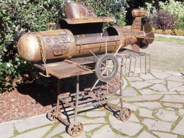 Подводная лодка-мангал,коптильня (Фото 19)