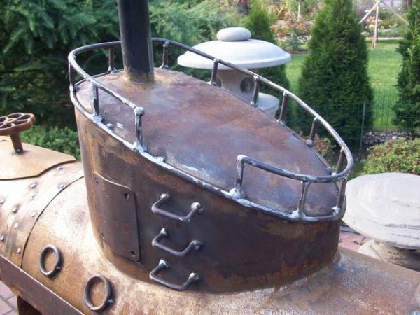 Подводная лодка-мангал,коптильня (Фото 12)
