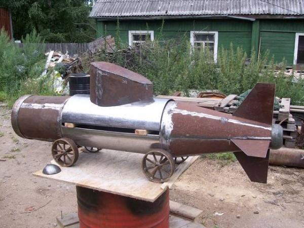 Подводная лодка-мангал,коптильня (Фото 5)