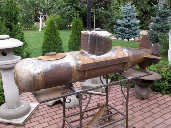 Подводная лодка-мангал,коптильня (Фото 7)
