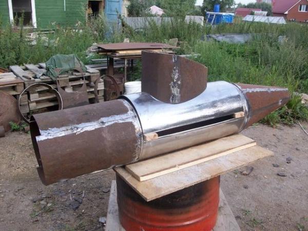 Подводная лодка-мангал,коптильня (Фото 3)