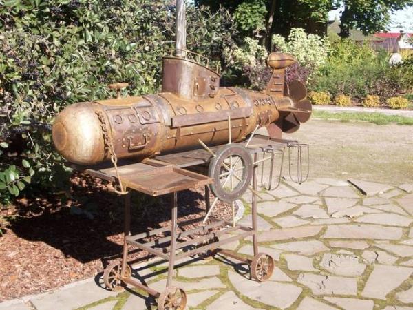 Подводная лодка-мангал,коптильня (Фото 17)
