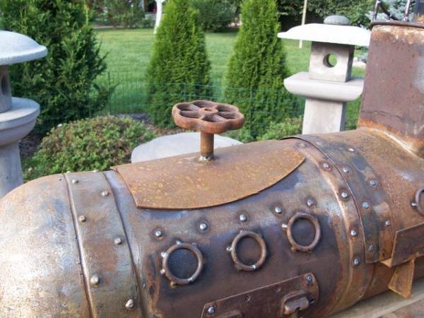 Подводная лодка-мангал,коптильня (Фото 9)
