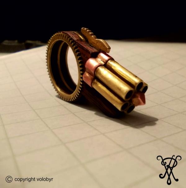 Шестиствольное кольцо-пистолет Pneliadolita