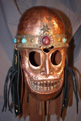Медный шлем с маской-личиной (Фото 2)