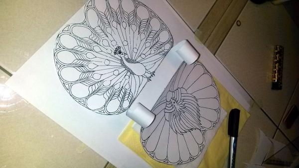 Салфетница из листа латуни.