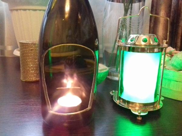 Зеленая лампа.
