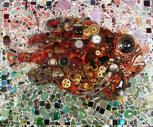 46 х 56 мозаика,рельеф,чеканка