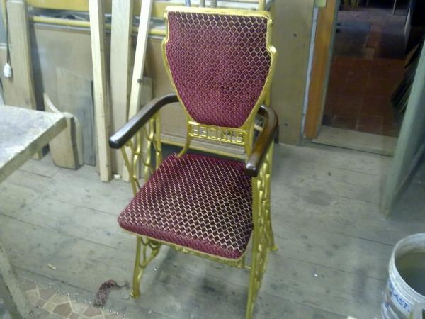 кресло из станины швейной машинки singer (Фото 3)