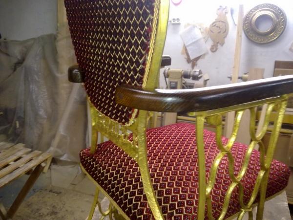 кресло из станины швейной машинки singer (Фото 2)