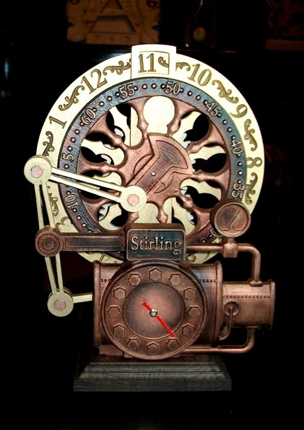 Часики на тему Стирлинга.