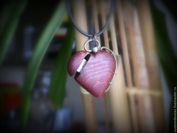 Флешка-кулон в виде сердца, первый опыт.