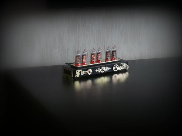 Ламповые часы Steampunk ИН-14