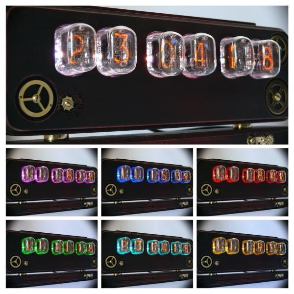 Ламповые часы Steampunk 12 custom edition №2