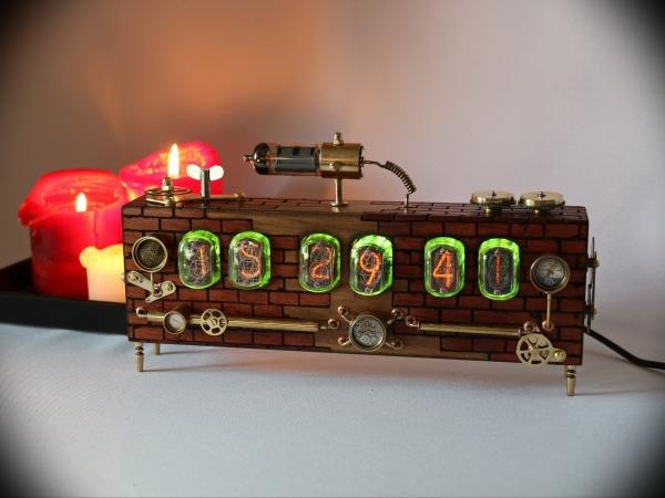 Ламповые часы Стимпанк ИН-12
