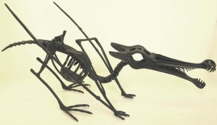 Скелет птерозавра