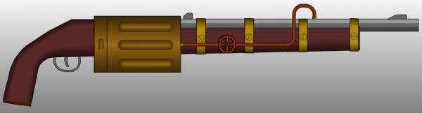 Стимпанк оружие в программе pimpmygun.