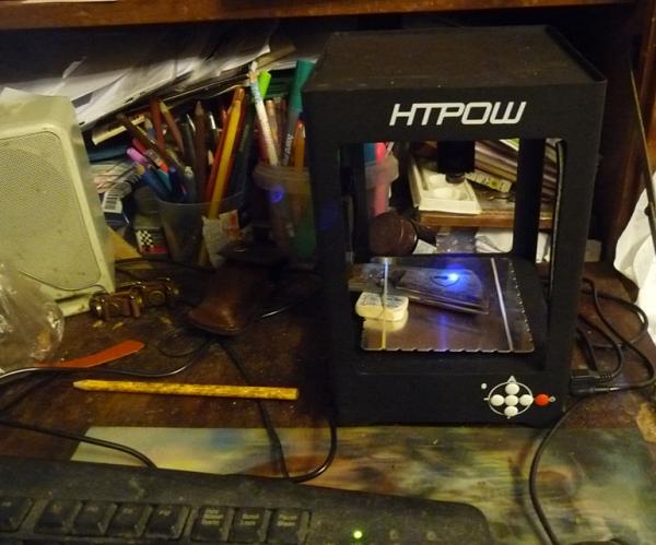 Высокотехнологичный выжигатель - лазер (так, чисто похвастаться инструментом... )
