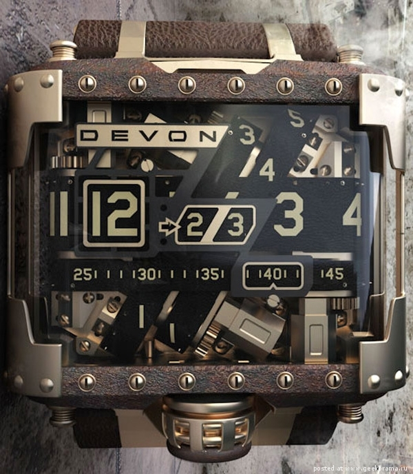 Стимпанк-часы Devon Tread 1
