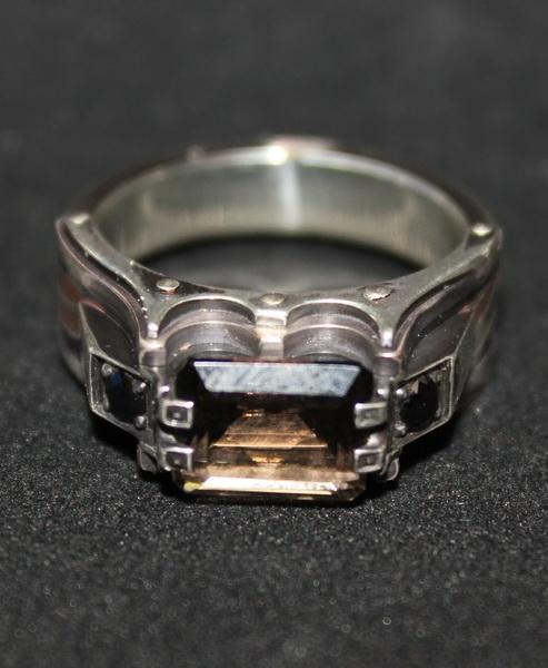 Перстень с раух-топазом