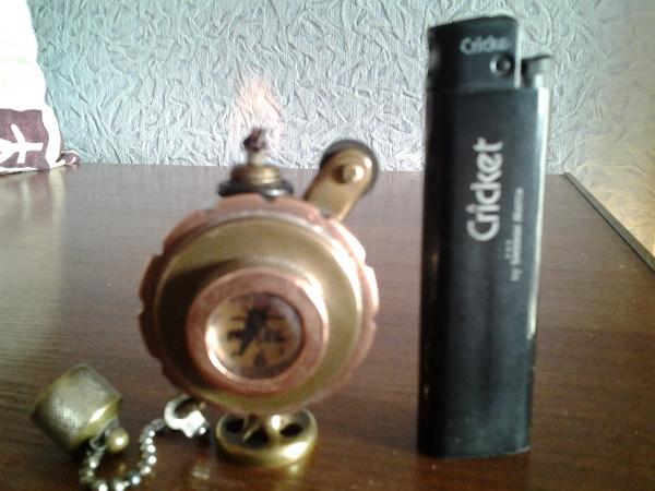 Бензиновая зажигалка Вокруг света.
