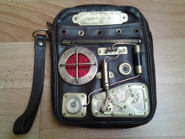 Старая сумочка.Апгрейд в стиле стимпанк.