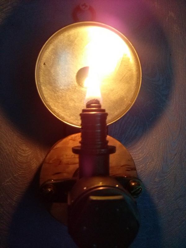 Масляная лампа #2,настенная.