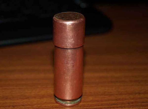 Зажигалка из гильзы 12,7 мм