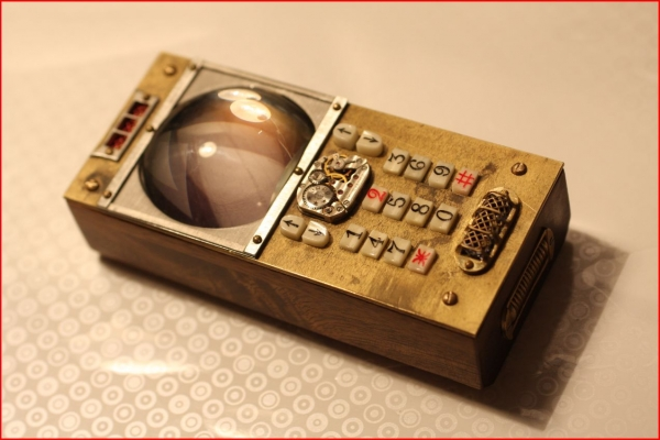 SteamPunk Mobile Phone, телефон стимпанк