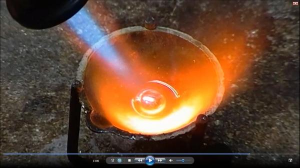 сравнительный тест бензиновых горелок( самодельной и заводской)