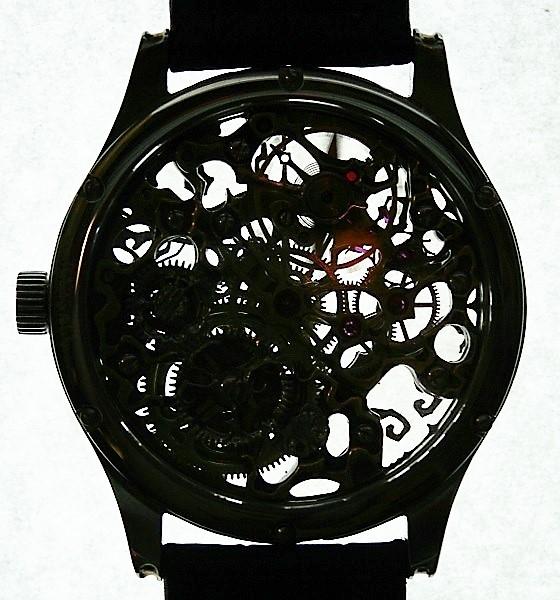 часы скелетон 1