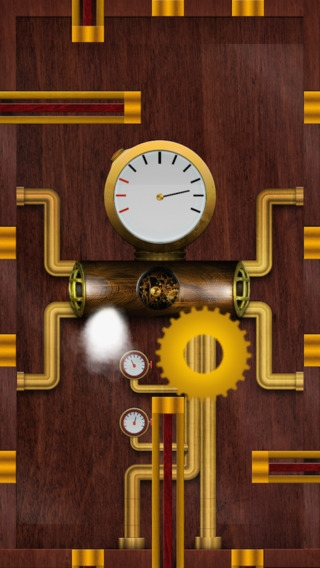 Моя игра для ios в стиле steampunk - cogwheel inside mechanism
