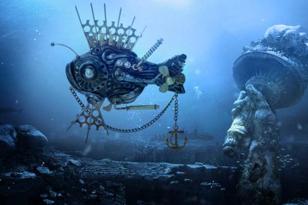 Биомеханическая рыбка в стиле Christi Friesen