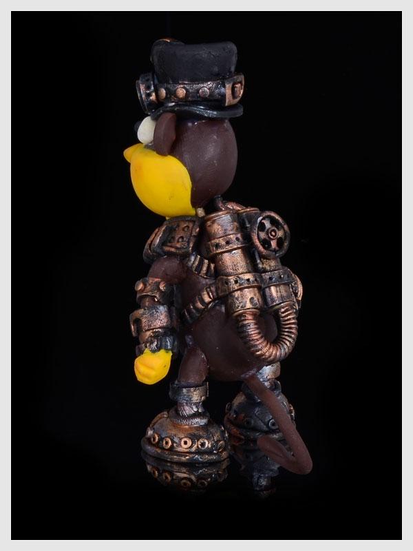 Новогодняя игрушка обезьянка Жаконя в стиле альтернативного стимпанка.