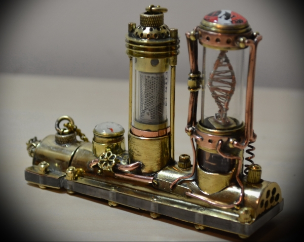 Motorized steampunk flash drive DNA molecule Monster DNA