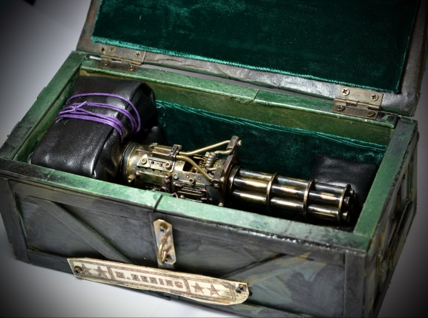 Моторизированная флешка  Пулемёт Гатлинга V2.