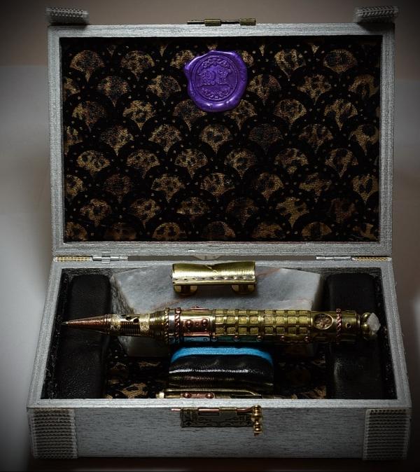 Ballpoint pen in steampunk style Jerusalem