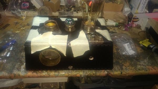Magen Kening Steampunk Lamp Mayan