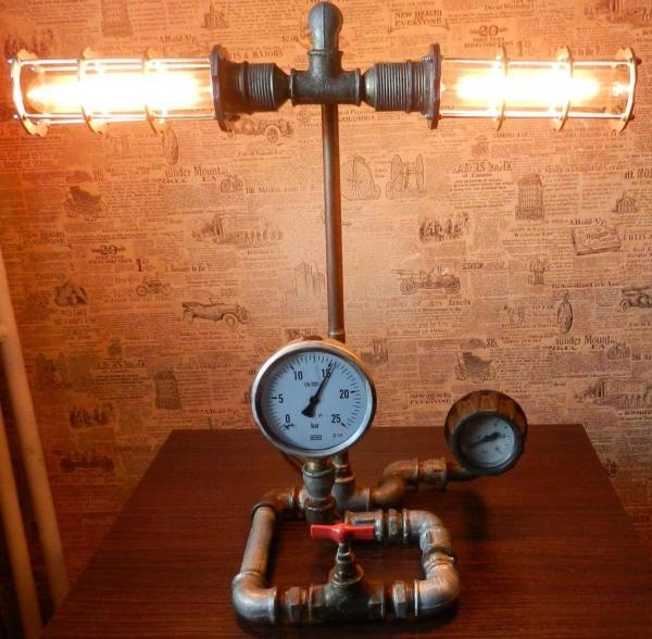Cтимпанк лампа