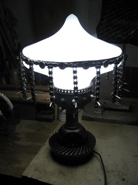 "Настольная лампа "" Колючий гриб """