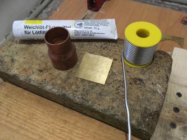 Подготовка детали для пайки