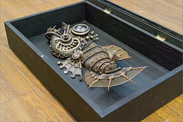 Механическая рыба Экспонат