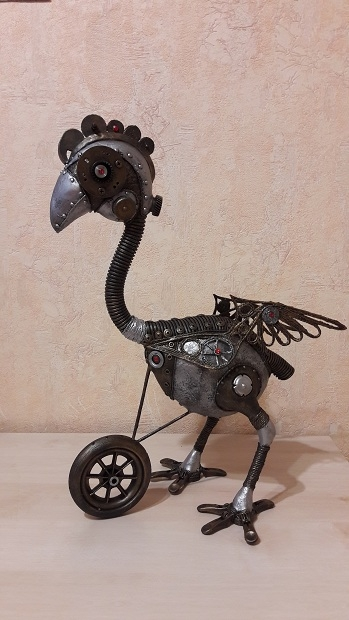 Альтернативный стимпанк - биомеханика. Курица.