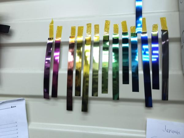 Очень дешево продам металлическую ленту разных цветов