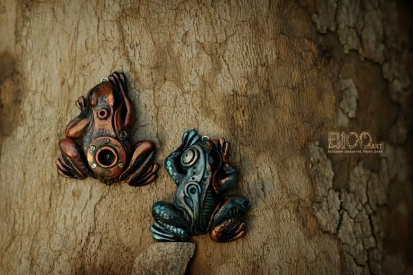 Фауна в стилистике steampunk, biomehanic.