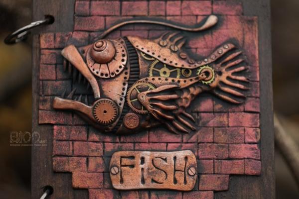 Блокнот Рыба-Механоид.