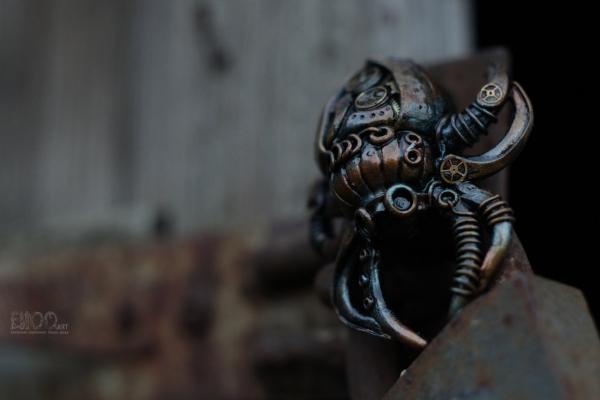 Паук в стилистике steampunk.