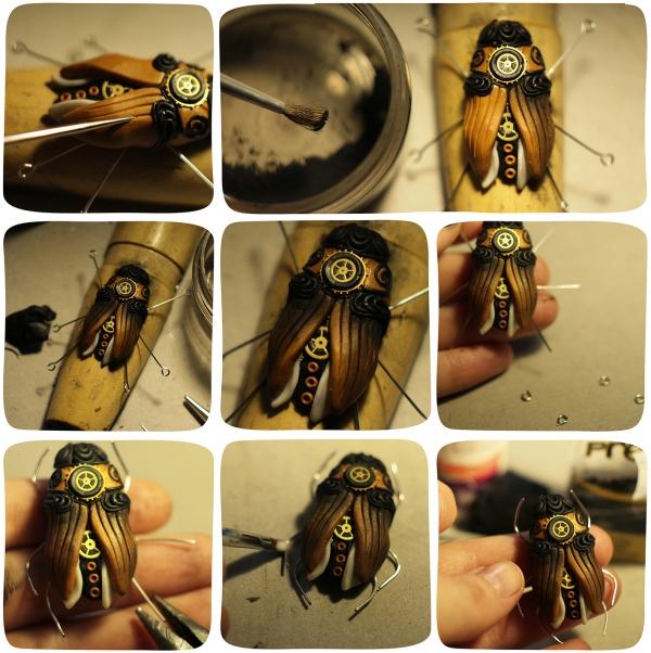 Лепим жука в стилистике steampunk